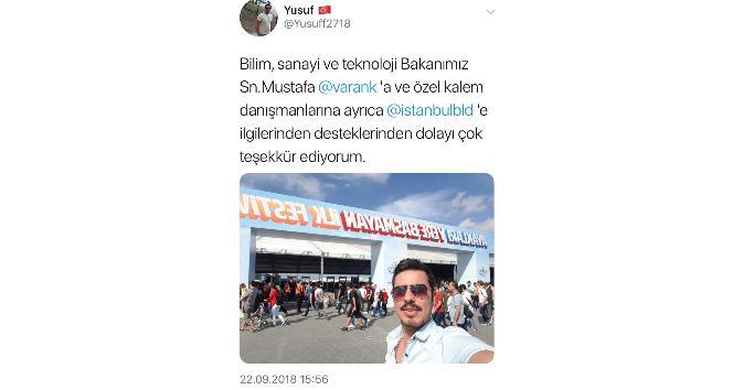 Bakan Varank'tan gençlere büyük destek
