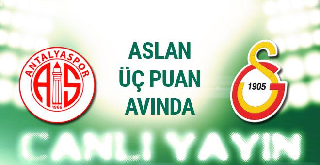 Antalyaspor - Galatasaray maçı canlı anlatımı