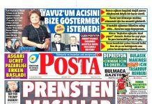 Posta Gazetesi - Posta Manşet Oku - Haberler 21 Ekim 2018