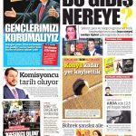 Türkiye Gazetesi Gazetesi - Türkiye Gazetesi Manşet Oku - Haberler 16 Ekim 2018
